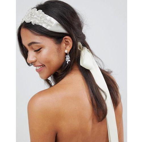Johnny loves rosie bridal diamante multiwear ribbon - white
