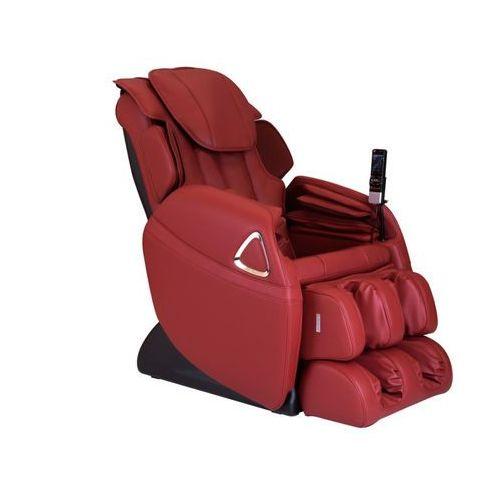 Fotel masujący leto z obiciem skóropodobnym - system wprowadzający w stan nieważkości (antygrawitacyjny) - czerwony marki Vente-unique