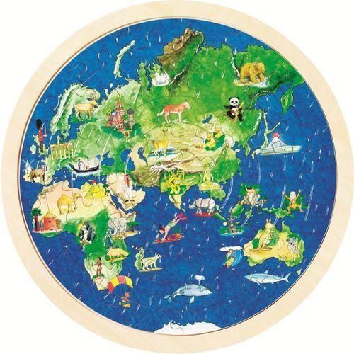 Goki Puzzle mapa świata