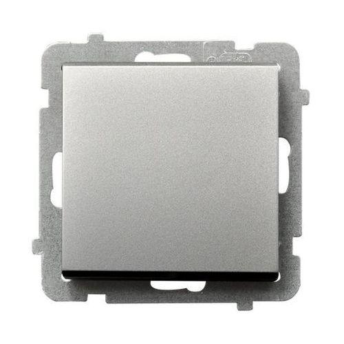 Łącznik jednobiegunowy SONATA Ospel 16AX srebro mat IP20 ŁP-1R/m/38, ŁP-1R/M/38