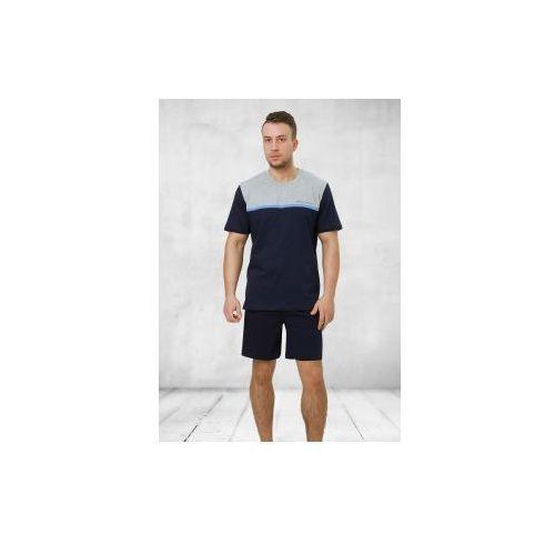 Piżama męska Kasjan 243 melanż/granat, kolor niebieski