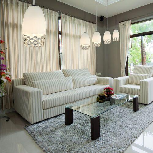 Zumaline sila lampa wisząca lamp 1*g9 max 42w glass shademetal chrome canopy md1510-1 white (2011004915625)