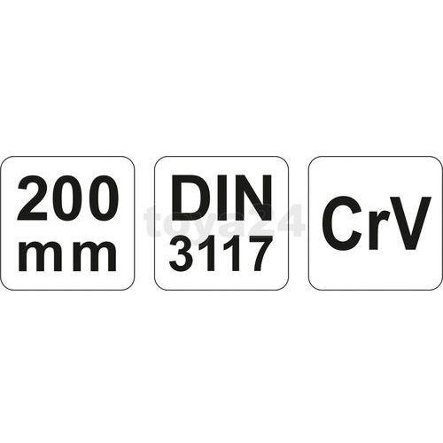Yato Klucz nastawny 200 mm yt-2171 - zyskaj rabat 30 zł (5906083921711)