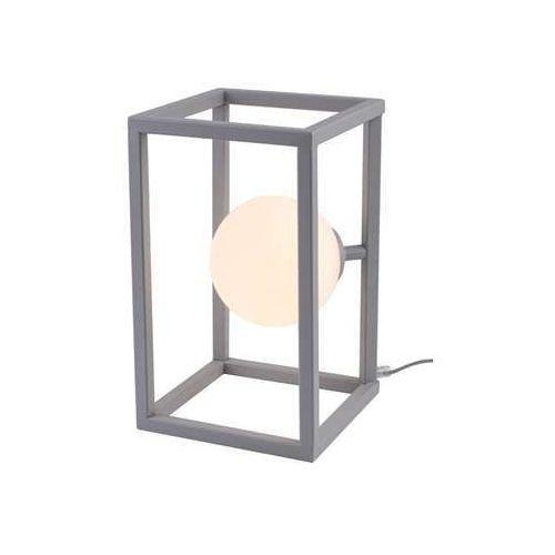 Aldex cube glass 1027b17 lampa stołowa lampka 1x60w e27 szary