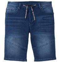 """Bermudy dresowe w optyce dżinsowych Regular Fit bonprix Niebieski """"stone"""" Used"""