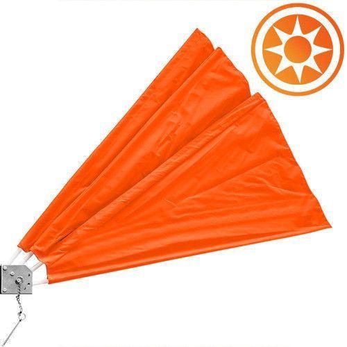 Wachlarz osłona balkonowa na balkon markiza orange - pomarańczowy marki Wideshop