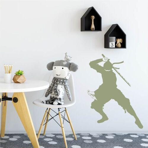 Szablon na ścianę dla dzieci wojownik ninja 2101 marki Wally - piękno dekoracji