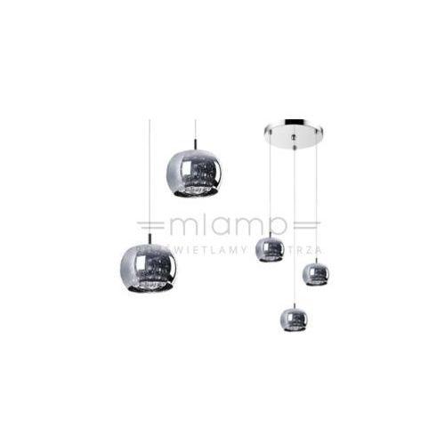 LAMPA wisząca CRYSTAL P0076-03M-B5FZ Zumaline kryształowa OPRAWA zwis kaskada kule balls chrom, P0076-03M