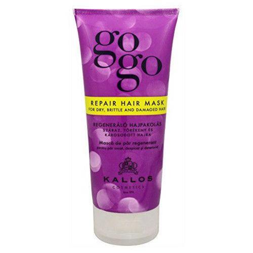 KALLOS GOGO Maska regenerująca do suchych, amiących się i uszkodzonych wosów 200 ml (5998889507404)