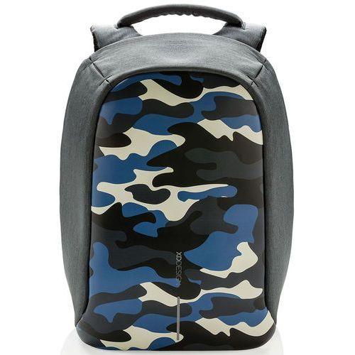 XD DESIGN Bobby Compact Print plecak na laptop 14'' / tablet 9'' / Camouflage Blue - Camouflage Blue, kolor szary