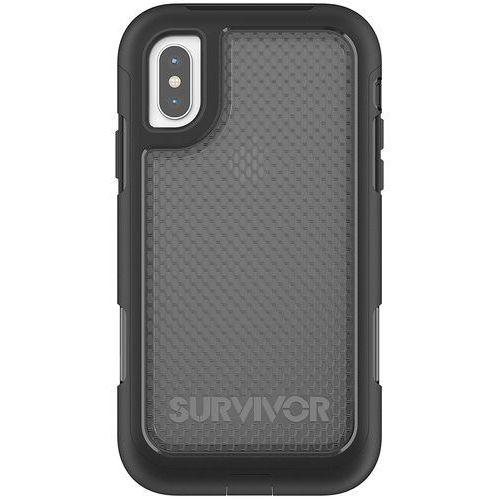 survivor extreme etui pancerne iphone x (czarny/przezroczysty) marki Griffin