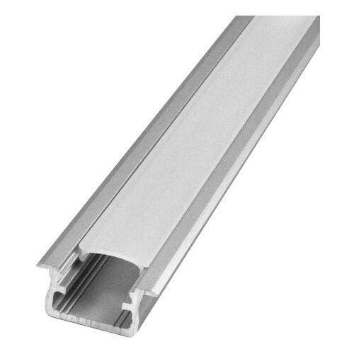 Zestaw profil podtynkowy typ B Polux 2 m z kloszem i zaślepkami aluminium