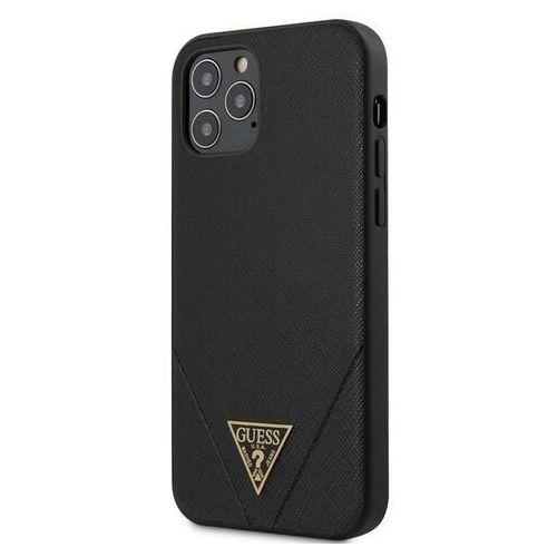 "Guess GUHCP12MVSATMLBK iPhone 12 6,1"" Max/Pro czarny/black hardcase Saffiano Guess / GUE000830, kolor czarny"