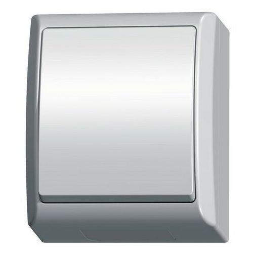 ospel Łącznik pojedynczy natynkowy hermetyczny ip44 biały łnh-1h/00 fala ospel
