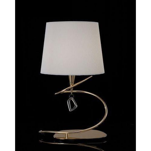 lampa stołowa/biurkowa MARA 1L antyczny mosiądz - kremowy klosz, MANTRA 1630