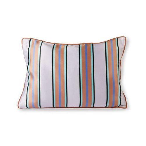 Hkliving satynowo-aksamitna poduszka pomarańczowo/niebieski (35x50) tku2092