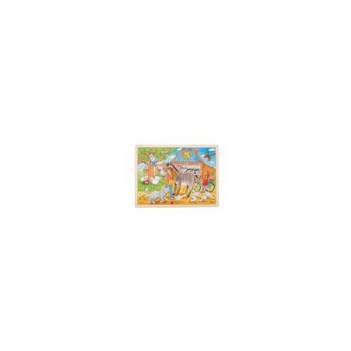 Drewniane puzzle Peggy Diggledey na farmie (4013594577427)