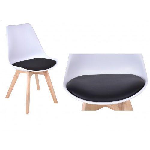 Gockowiak Krzesło nantes - biało-czarny