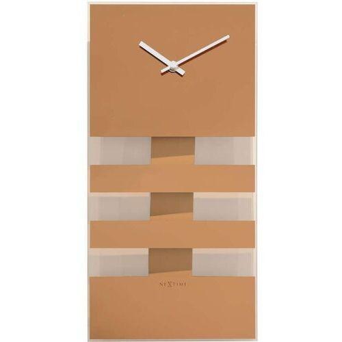 Zegar ścienny z wahadłem bold stripes miedziany (2855 co) marki Nextime