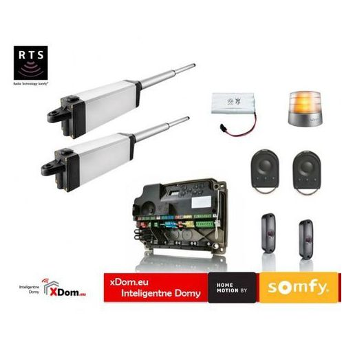 Somfy Ixengo s 24v comfort pack (2 piloty 4-kanałowe keygo, lampa z anteną, fotokomórki, akumulator)