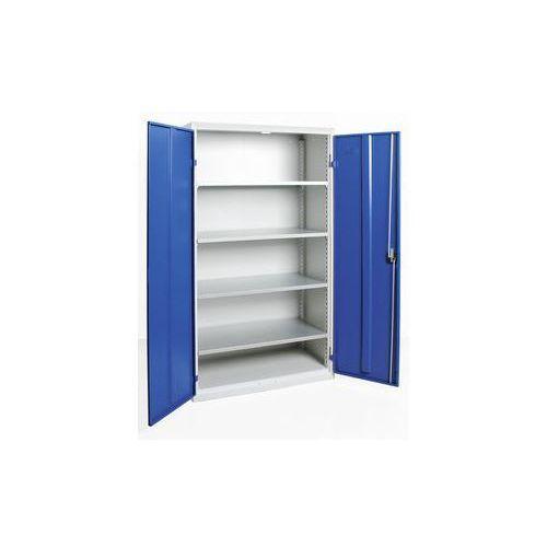 Szafka z drzwiami skrzydłowymi,z drzwiami w całości z blachy, 4 półki
