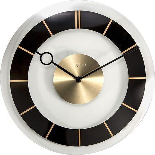 Nextime Zegar ścienny retro czarny