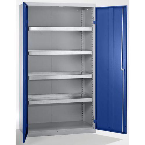 Szafa ekologiczna, drzwi zamknięte, wys. x szer. x głęb. 1800x1000x500 mm, 4 pół