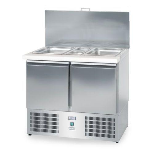 Dora metal Lada sałatkowa chłodnicza, 2-drzwiowa, 950x700x850 mm | , dm-94040