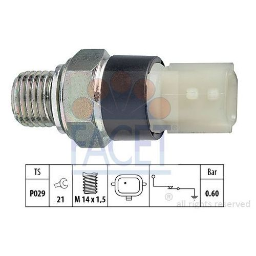 Włącznik ciśnieniowy oleju FACET 7.0178 (8012510016893)