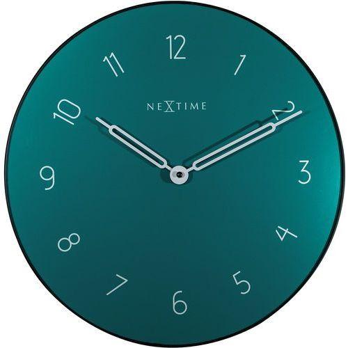 Zegar ścienny Carousel zielony Nextime 40 cm (8193 GN), kolor zielony