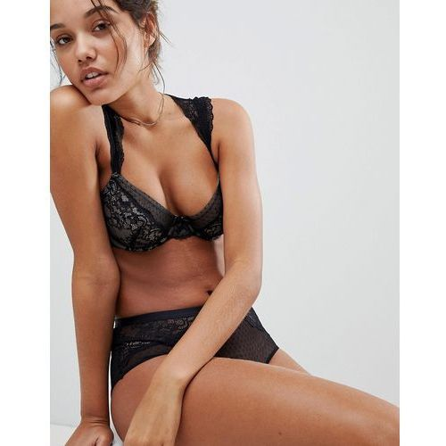 Dorina Macy Lace Capped Sleeve Bra B - DD Cup - Black