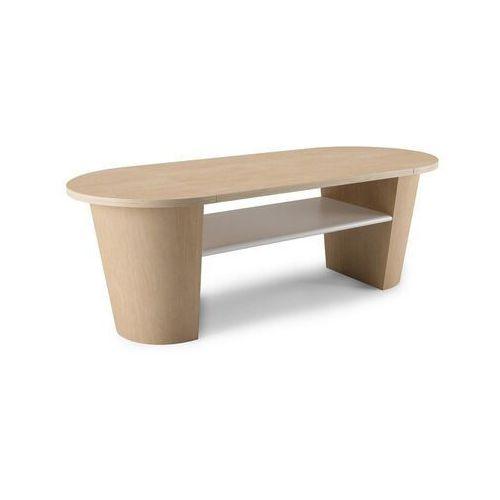 Umbra - Stolik Lexy - biały/drewno naturalne - jasne drewno