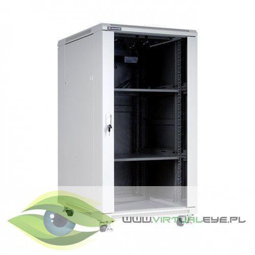 """Linkbasic Szafa stojąca rack 19"""" 22U 600x800mm szara (drzwi szklane), 1_667680"""