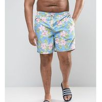 big & tall floral swim shorts in blue - navy marki Polo ralph lauren