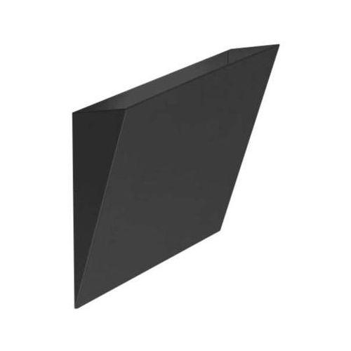 Shilo Minimalistyczna lampa ścienna kioto 4427/g9/cz kwadratowa oprawa metalowa czarna