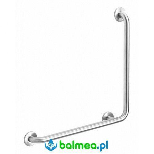 Poręcz kątowa dla niepełnosprawnych 90° stal nierdzewna matowa marki Faneco