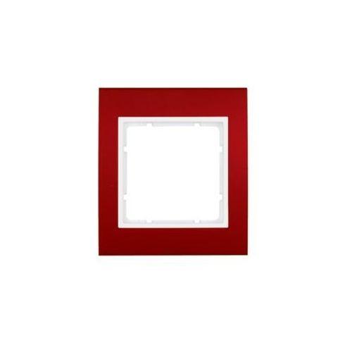 b.3 ramka 1-krotna, alu, czerwony/biały 10113022 marki Berker