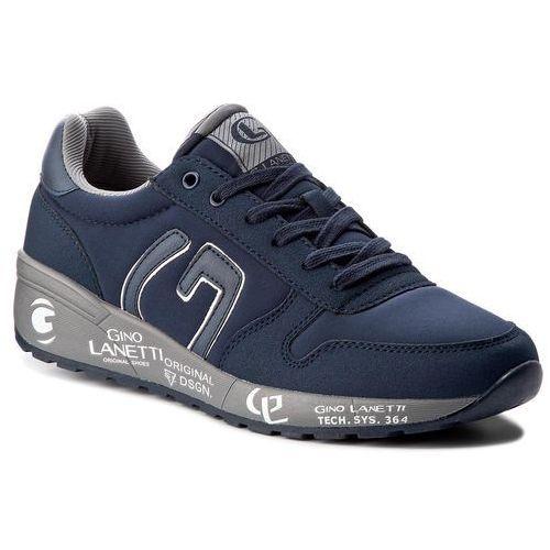 Sneakersy GINO LANETTI - MP07-17021-01 Granatowy, kolor niebieski
