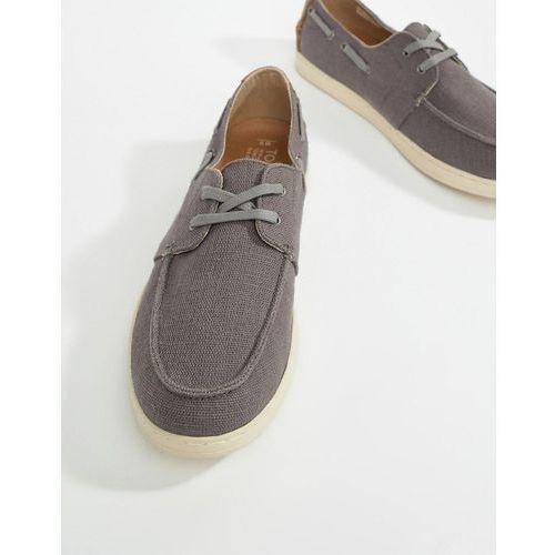 TOMS Canvas Boat Shoes In Dark Grey - Grey