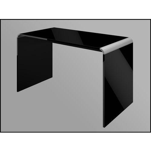 Hubertus design Biurko milano 130 czarne wysoki połysk