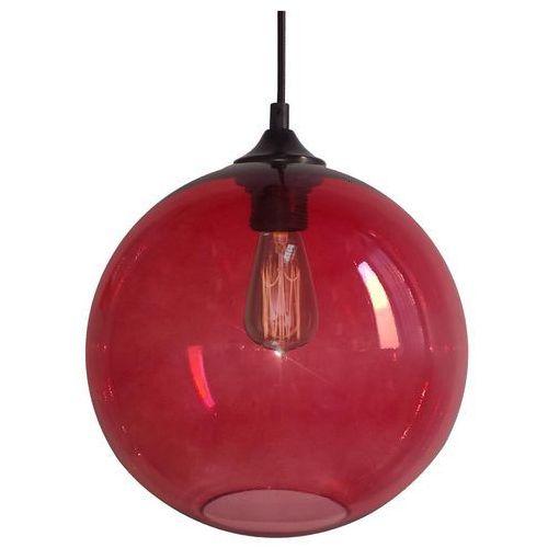 CANDELLUX EDISON 31-21410 Lampa wisząca 25 1x60W E27 czerwony + żarówka, kolor Czerwony