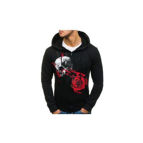 Bluza męska z kapturem rozpinana czarna Denley 171485, kolor czarny