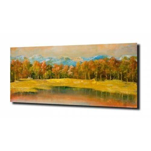 obraz na szkle, panel szklany Las malarstwo 100X80, F810