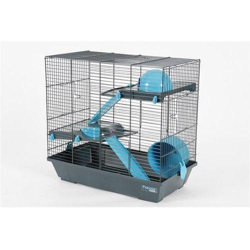 klatka indoor duplex 50 cm dla chomika szaro-niebieska - darmowa dostawa od 95 zł! marki Zolux