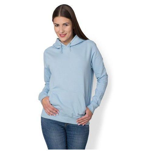 Megakoszulki Damska bluza z kapturem (bez nadruku, gładka) - jasno niebieska