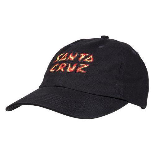 czapka z daszkiem SANTA CRUZ - Fire Cap Washed Black (WASHED BLACK ) rozmiar: OS