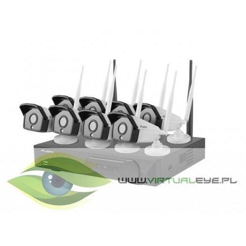 LANBERG Zestaw do monitoringu rejestrator NVR 8 kanałowy WiFi + 8 kamer IP WiFi 2Mpx z akcesoriami