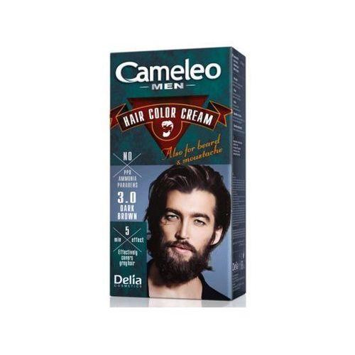 Delia cosmetics cameleo men farba do włosów odcień 3.0 dark brown 30 ml (5901350445839)