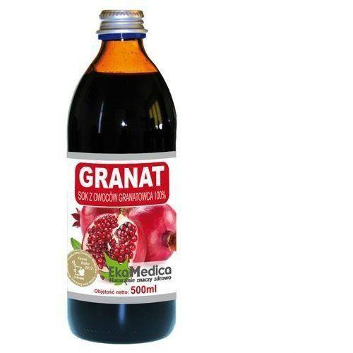 Granat sok 100% (500 ml) marki Ekamedica