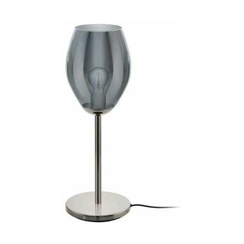 Eglo Estanys 39568 lampa stołowa lampka 1x60W E27 nikiel-nero/czarna-transparentna (9002759395681)